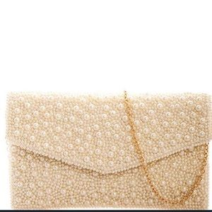 Pearl Envelope Clutch